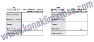 ALAKARTE RESTAURANT RESERVATION FORM