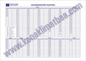 housekeeping raporu turtaş