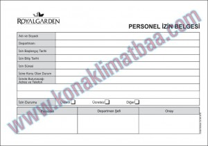 personel izin belgesi royal