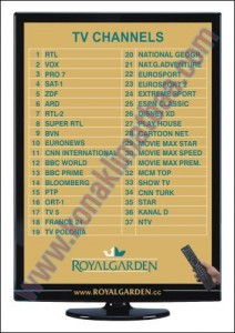 tv kartı royal garden